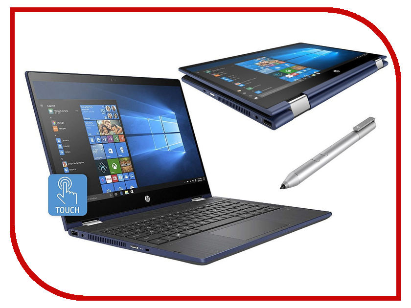 Ноутбук HP Pavilion x360 14-cd0006ur Blue 4HE22EA (Intel Core i5-8250U 1.6 GHz/4096Mb/1000Gb/Intel HD Graphics/Wi-Fi/Bluetooth/Cam/14.0/1920x1080/Windows 10 Home 64-bit)