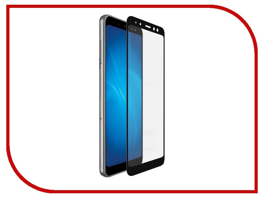 Аксессуар Защитное стекло для Samsung Galaxy A8 2018 Plus DF Fullscreen+FullgluesColor-37Black blackview a8 смартфон