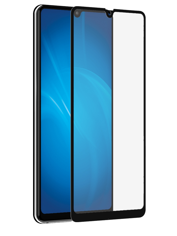 Аксессуар Защитное стекло DF для Huawei Mate 20 Fullscreen+Fullglue hwColor-71 Black