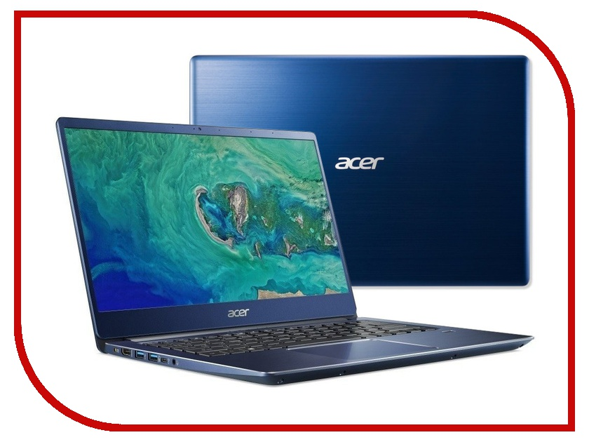 Ноутбук Acer Swift SF314-54-55A6 NX.GYGER.002 Blue (Intel Core i5-8250U 1.6 GHz/8192Mb/256Gb SSD/No ODD/Intel HD Graphics/Wi-Fi/Cam/14.0/1920x1080/Linux)