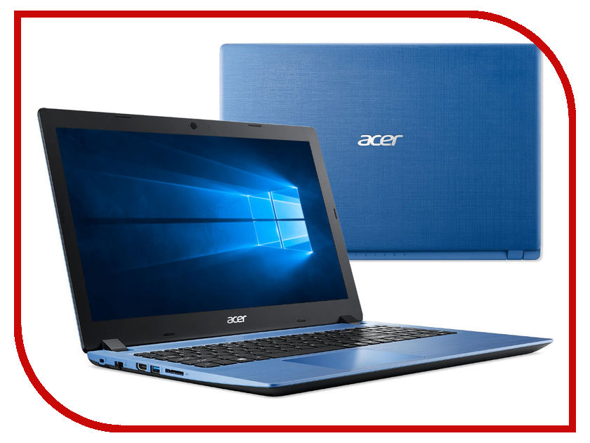 Ноутбук Acer Aspire A315-51-36DJ NX.GZ4ER.002 Blue (Intel Core i3-8130U 2.2 GHz/4096Mb/500Gb/No ODD/Intel HD Graphics/Wi-Fi/Cam/15.6/1366x768/Windows 10 64-bit) nokotion mb btest 002 laptop motherboard for acer aspire 5530 5230 jawd0 la 4391p ddr2 mbbtest002 without graphics card