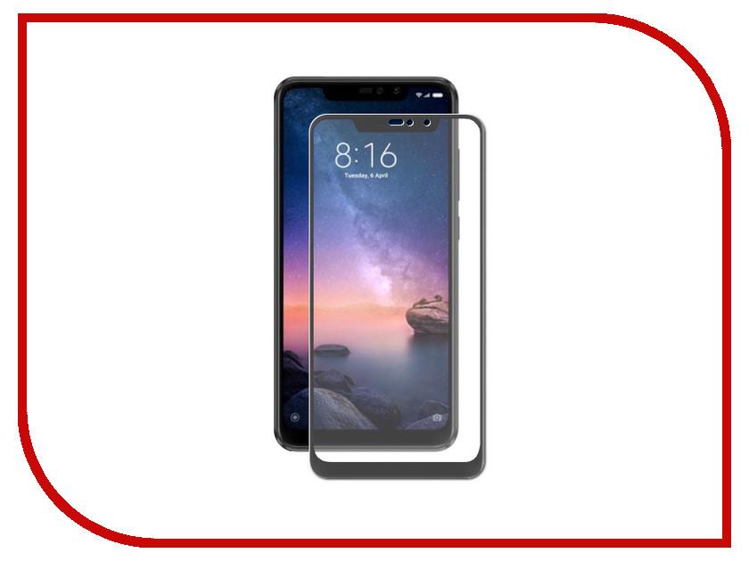 Аксессуар Защитное стекло для Xiaomi Redmi Note 6 DF Fullscreen+Fullglue xiColor-41 Black