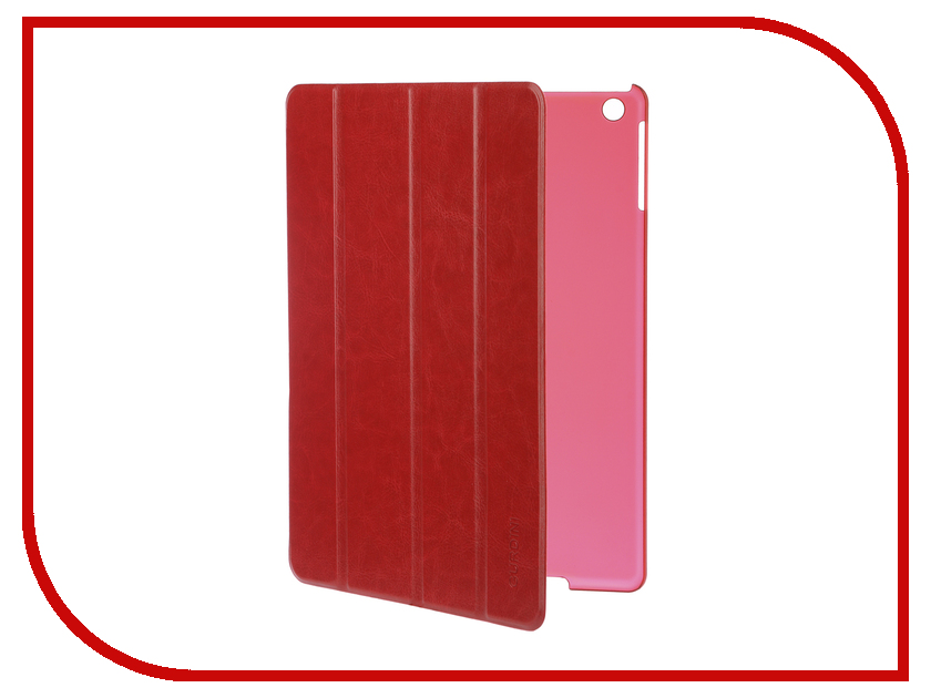 Аксессуар Чехол для APPLE iPad Air / iPad New 2017-2018 Gurdini Slim Eco кожа Red 520043 аксессуар чехол gurdini lights series для apple ipad 9 7 2017 rose gold 903673