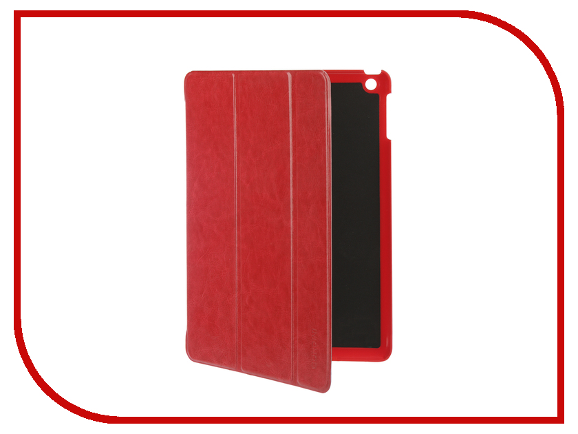Аксессуар Чехол для APPLE iPad Air / iPad New 2017-2018 Gurdini Eco кожа Red 520016 аксессуар чехол gurdini lights series для apple ipad 9 7 2017 rose gold 903673