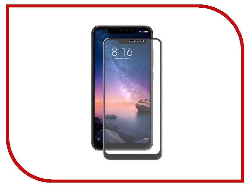 Аксессуар Защитное стекло для Xiaomi Redmi Note 6 32Gb LuxCase 3D Black Frame 77402 чехол книжка red line book type для xiaomi redmi 5 black