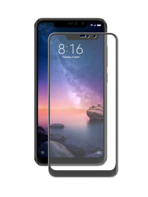Аксессуар Защитное стекло LuxCase для Xiaomi Redmi Note 6 32Gb 3D Black Frame 77402 цена в Москве и Питере