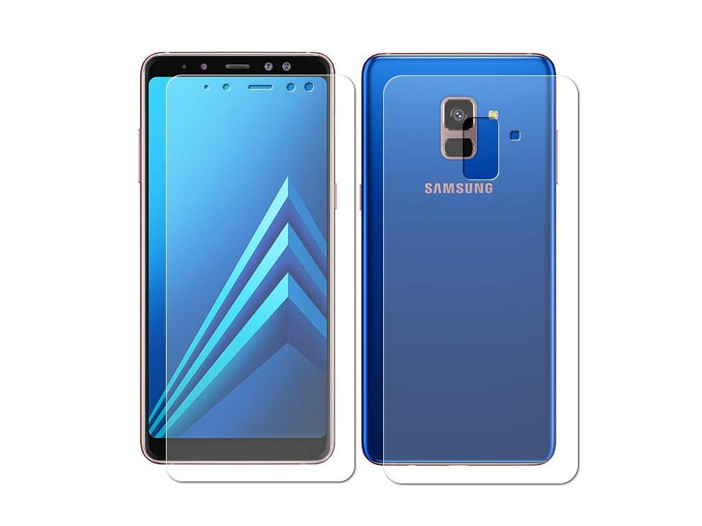 Аксессуар Защитная пленка LuxCase Full Screen Front&Back для Samsung Galaxy A8 Plus Transparent 88178 аксессуар защитная пленка luxcase для nokia 5 1 plus front