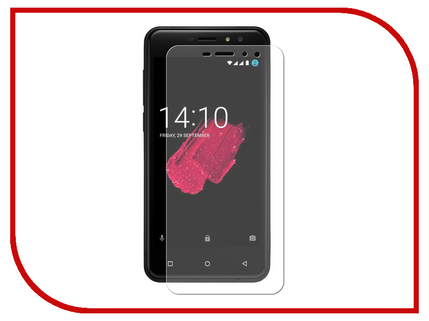 Аксессуар Защитная пленка для Prestigio Muze J3 LuxCase Full Screen Transparent 88966 5pcs lot top quality for prestigio multiphone pap5550 pap 5550 duo lcd display touch screen glass digitizer assembly replacement
