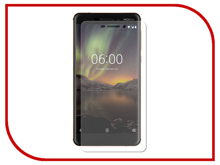 Аксессуар Защитная пленка для Nokia 6 2018 LuxCase Full Screen Transparent 88635 universa 14 6 matte frosted protective pe screen guard film for laptop transparent