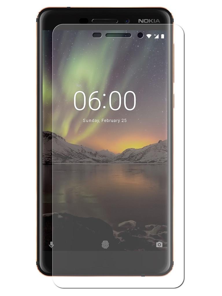 Аксессуар Защитная пленка LuxCase для Nokia 6 2018 Full Screen Transparent 88635 12storeez джинсы прямые на пуговицах синий ss19