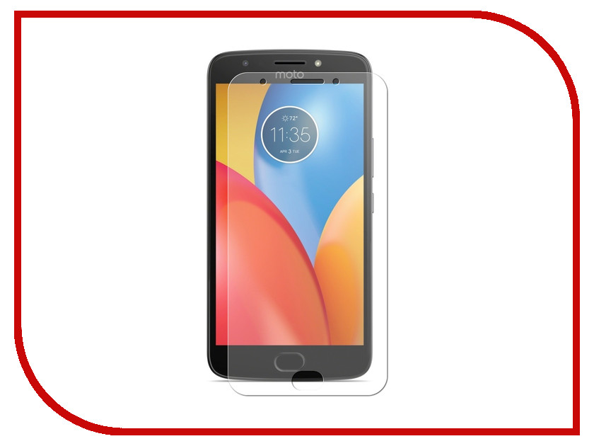 Аксессуар Защитная пленка для Motorola  E Gen.4 LuxCase Full Screen Transparent 88907