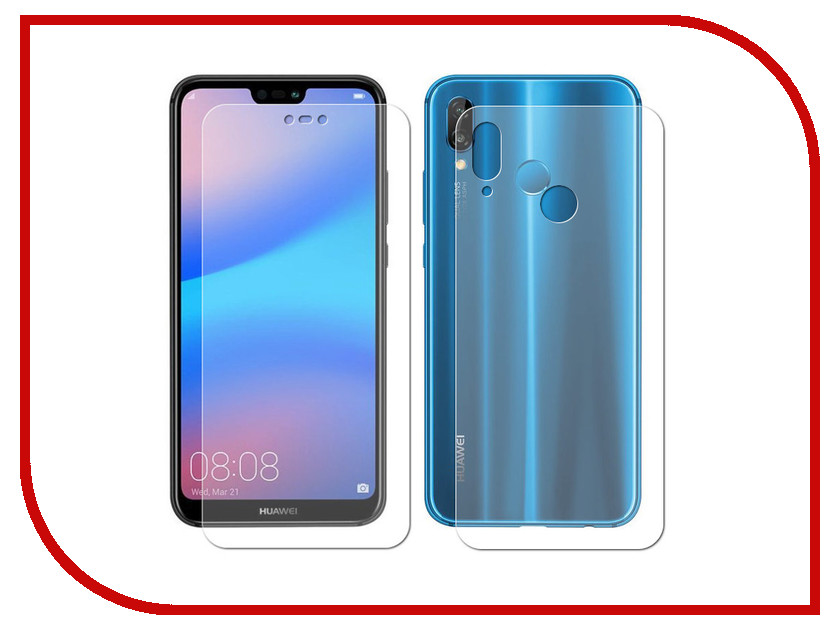 Аксессуар Защитная пленка для Huawei P20 Lite LuxCase Full Screen Front&Back Transparent 89013 elonbo stylish decorative full front screen protector back skin sticker set for iphone 5 violet