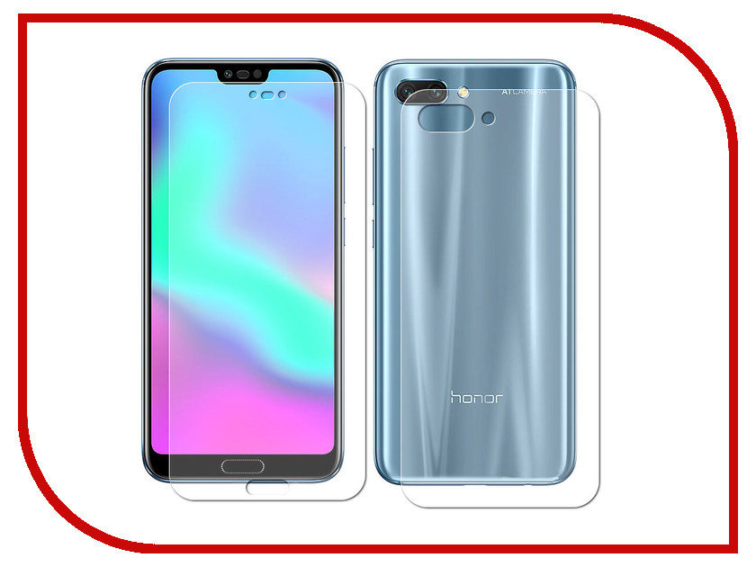 Аксессуар Защитная пленка для Huawei Honor 10 LuxCase Full Screen Front&Back Transparent 89034 elonbo stylish decorative full front screen protector back skin sticker set for iphone 5 violet