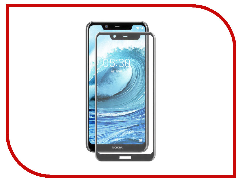 Аксессуар Защитное стекло для Nokia 5.1 Plus LuxCase 2.5D Full Glue Black Frame 77987 аксессуар защитное стекло luxcase full screen для apple iphone x 2 5d black frame 77814