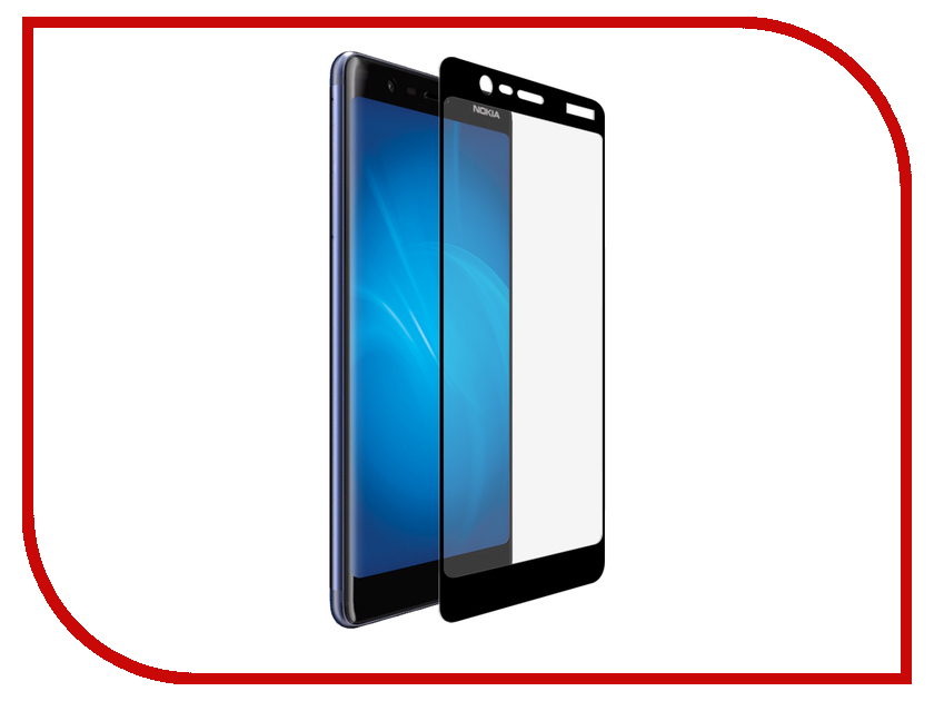 Аксессуар Защитное стекло для Nokia 5.1 LuxCase 2.5D Full Glue Black Frame 77986 black for nokia lumia 920 lcd display touch screen digitizer with bezel frame full assembly replacement parts free shipping