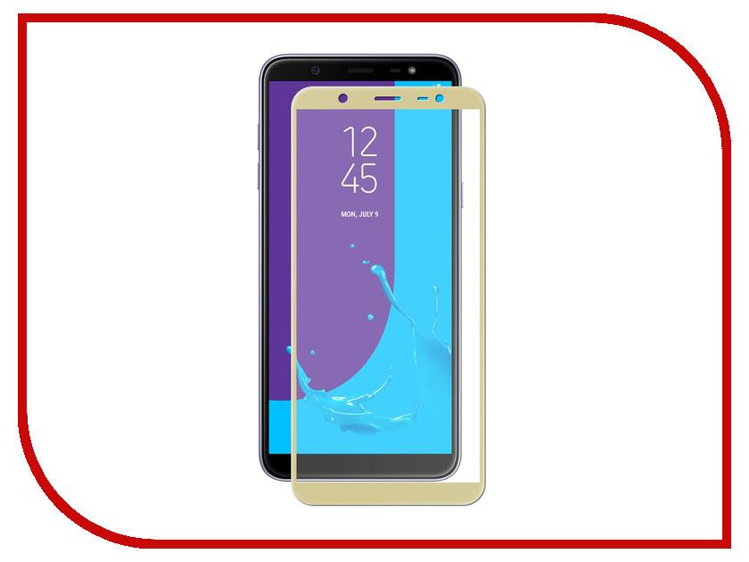 Аксессуар Защитное стекло для Samsung J8 LuxCase 2.5D Full Screen Full Glue Gold Frame 77881 аксессуар защитное стекло для zte blade v9 luxcase 2 5d gold frame 77989