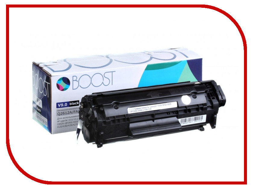 Картридж Boost Q2612A V9.0 для HP LJ1010/Canon FX10/TYPE703 2pcs alzenit oem new for hp 1010 1012 1015 1020 3015 3020 3030 charge roller q2612a printer parts