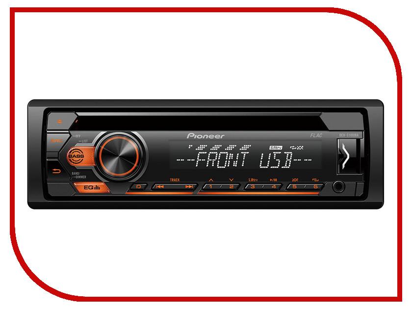 Автомагнитола Pioneer DEH-S110UBA автомагнитола cd pioneer deh x8700bt 1din