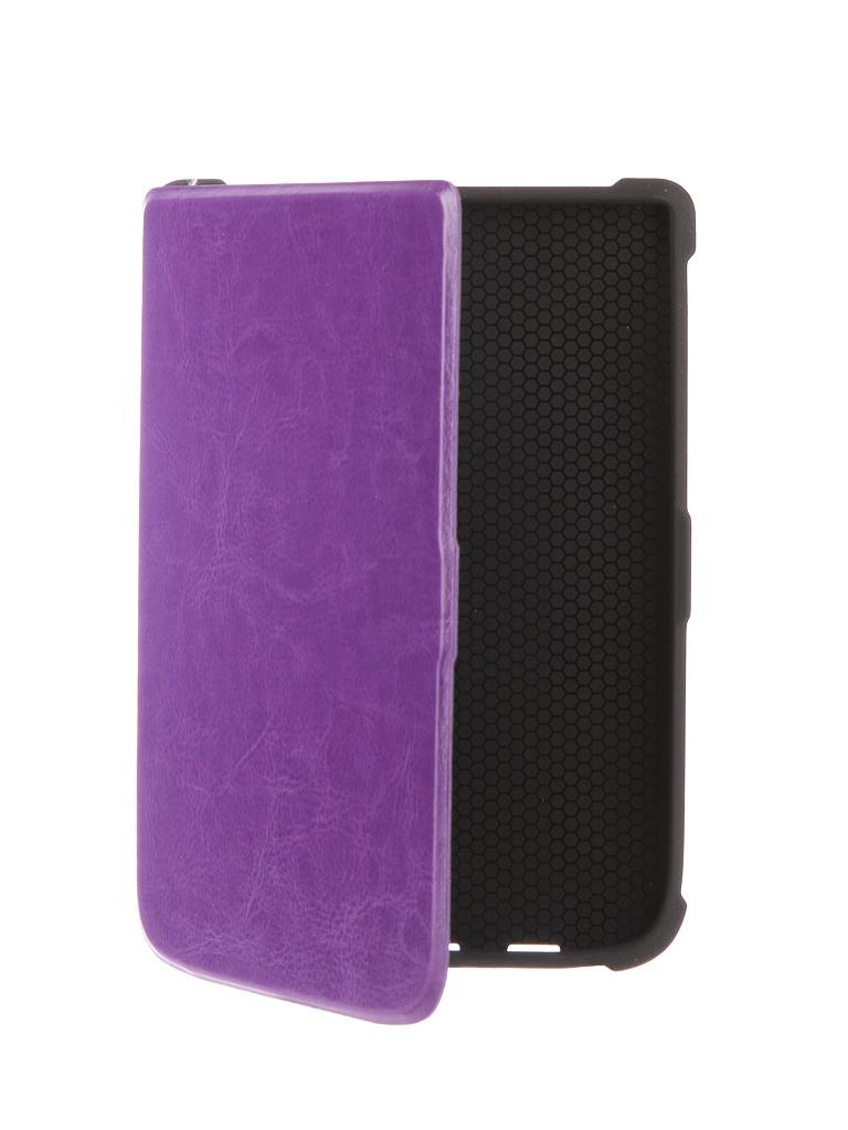 все цены на Аксессуар Чехол for PocketBook 616/627/632 TehnoRim Slim Purple TR-PB616-SL01PR онлайн