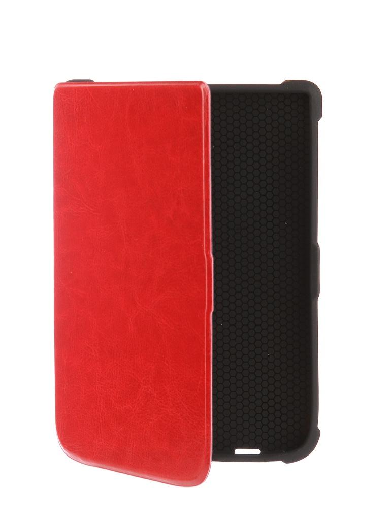 Аксессуар Чехол TehnoRim для PocketBook 616/627/632 Slim Red TR-PB616-SL01RD