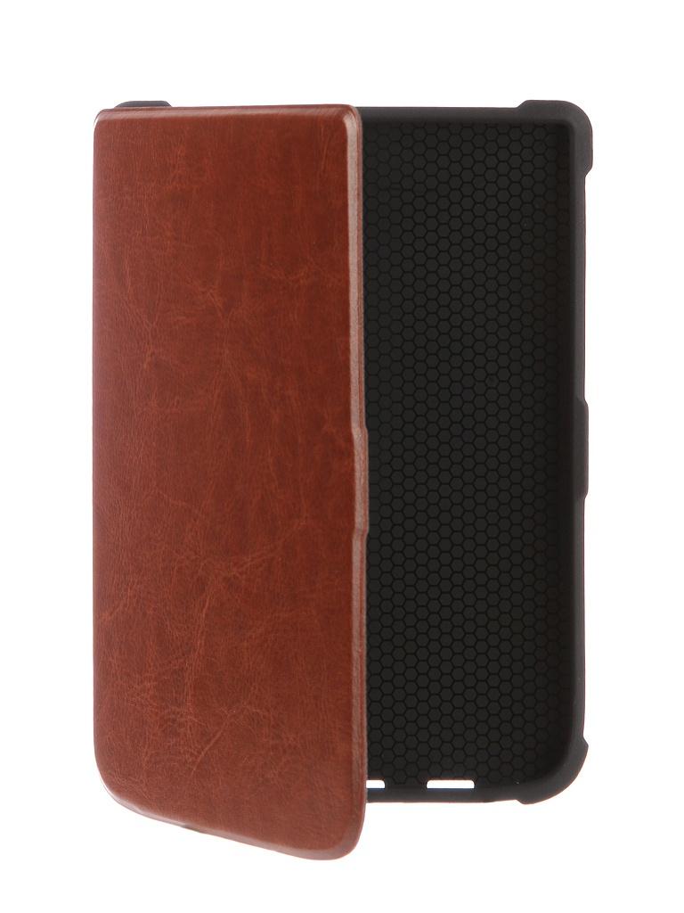 все цены на Аксессуар Чехол for PocketBook 616/627/632 TehnoRim Slim Brown TR-PB616-SL01BR онлайн
