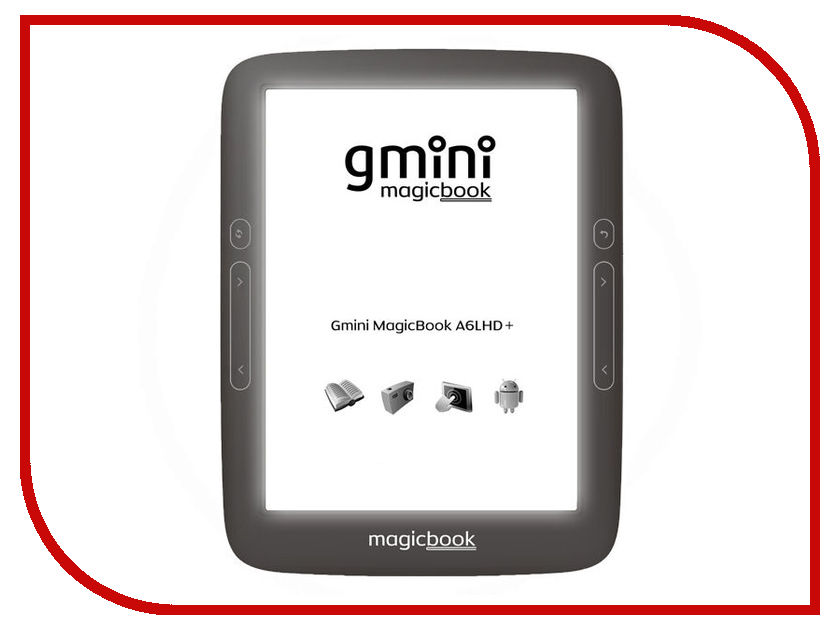 Электронная книга Gmini MagicBook A6LHD+ мобильный телефон jinga simple f510 белый