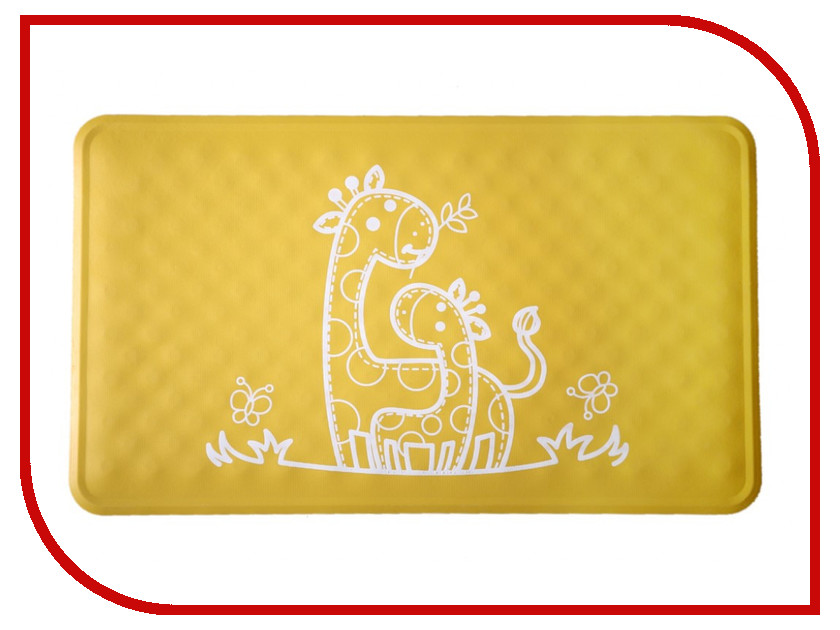 Антискользящий резиновый коврик для ванны Roxy-Kids BM-M164Y Yellow