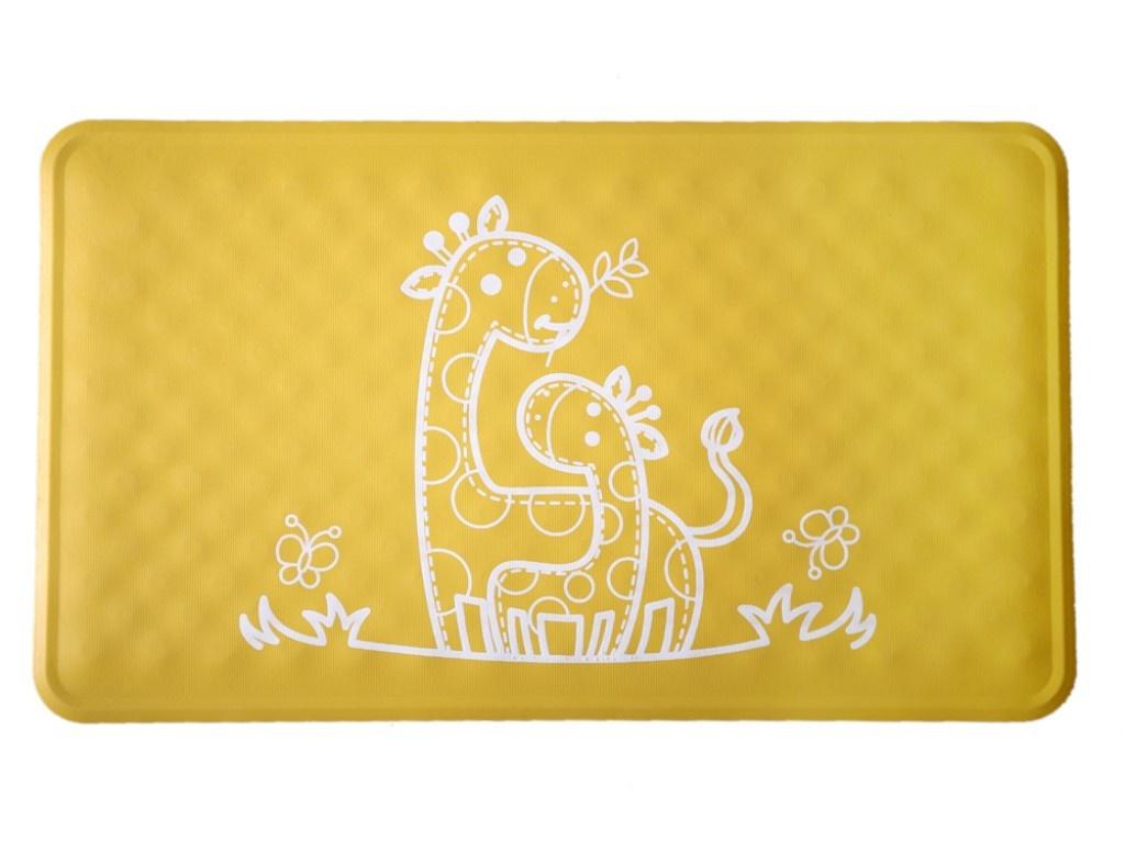 Антискользящий резиновый коврик для ванны Roxy-Kids BM-M164Y Yellow коврик для ванны roxy kids 34х74 см в ассортименте