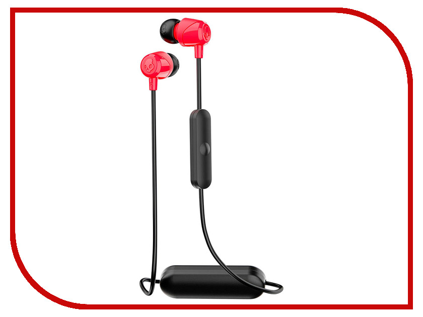 Skullcandy Jib Wireless W/Mic S2DUW-K010 Black-Red skullcandy jib in ear w o mic s2dudz 072 white