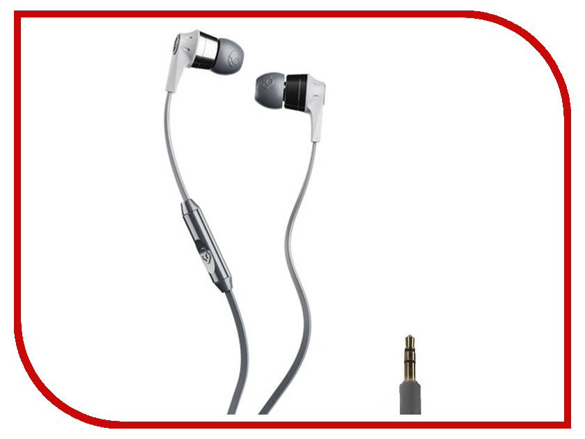 Skullcandy Ink D 2.0 In-Ear W/Mic Grey-Silver S2IKY-K610 skullcandy jib in ear w o mic s2dudz 072 white
