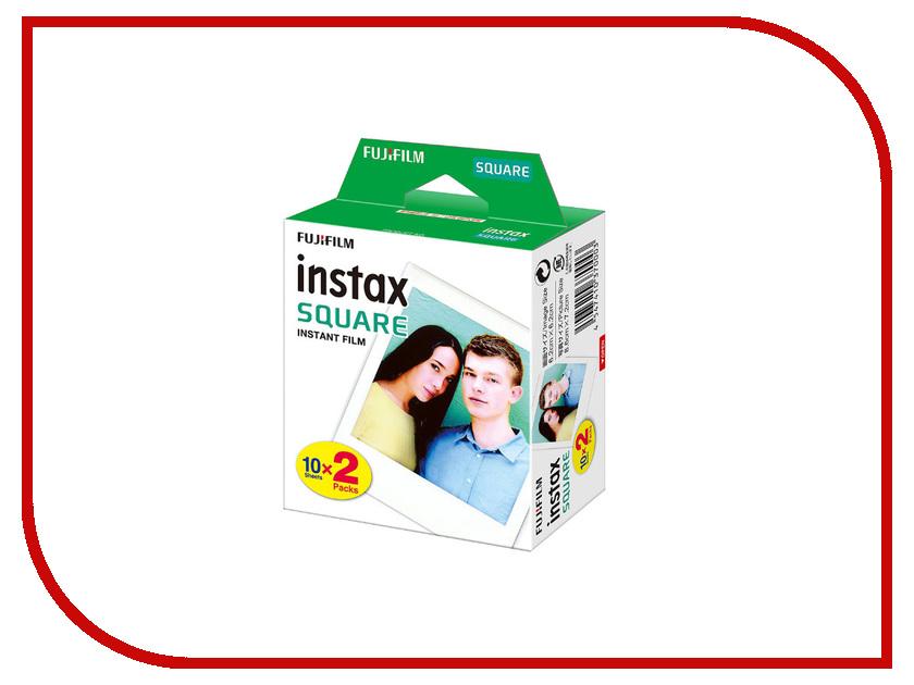 Fujifilm Colorfilm Square Film WW2 20/2PK для Instax Square SQ10 fujifilm glossy 10 2pk для instax mini 8 7s 25 50s 90 polaroid 300 instant 16386016