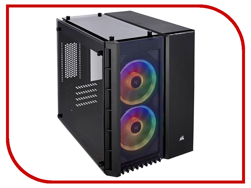 Корпус Corsair Crystal Series 280X RGB TG Black CC-9011135-WW корпус atx corsair carbide series clear 600c inverse black window без бп чёрный cc 9011079 ww