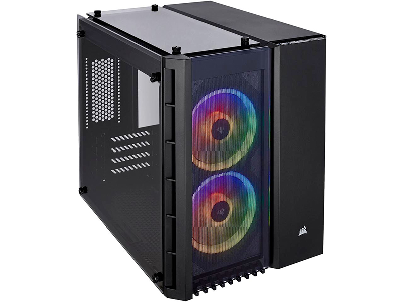 Корпус Corsair Crystal Series 280X RGB TG Black CC-9011135-WW корпус corsair carbid series spec omega rgb cc 9011140 ww mid tower tempered glass gaming case black