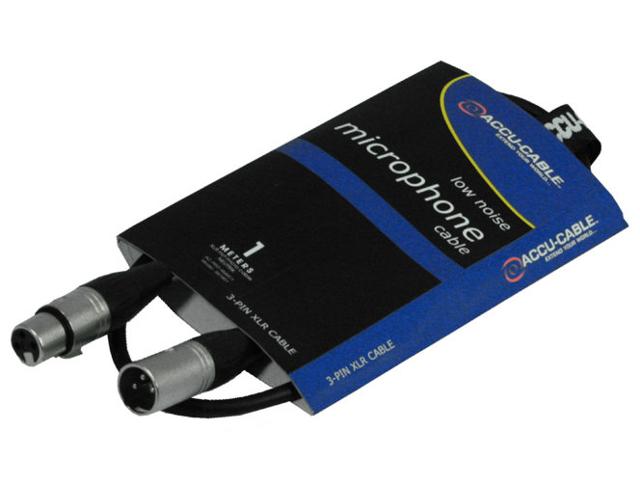 Шнур микрофонный American Dj AC-XMXF/1 XLR/XLR 1m