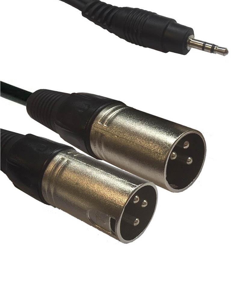 American Dj 3.5 Jack/M Stereo - 2xXLR M 1.5m AC-J3S-2XM/1.5