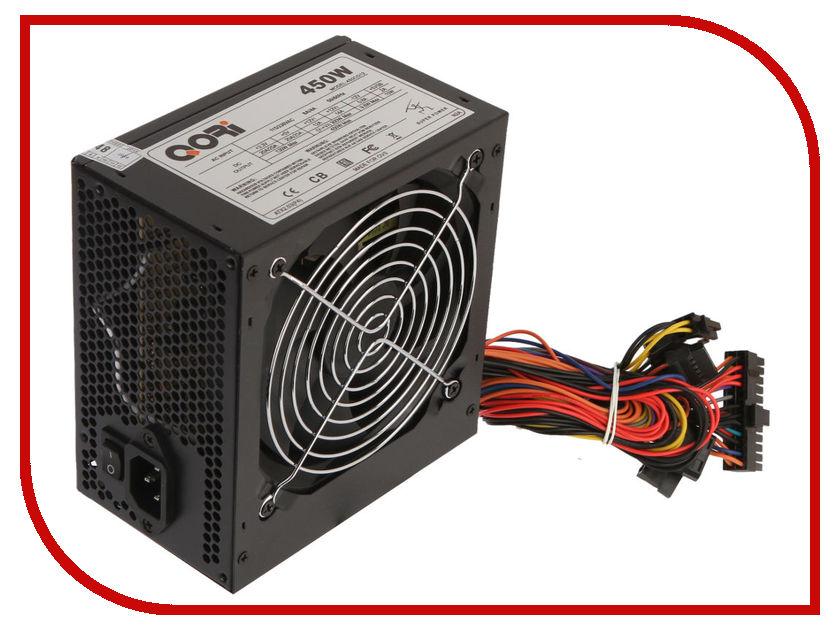 Блок питания QORi 450CG 450W Black блок питания сервера lenovo 450w hotswap platinum power supply for g5 4x20g87845 4x20g87845
