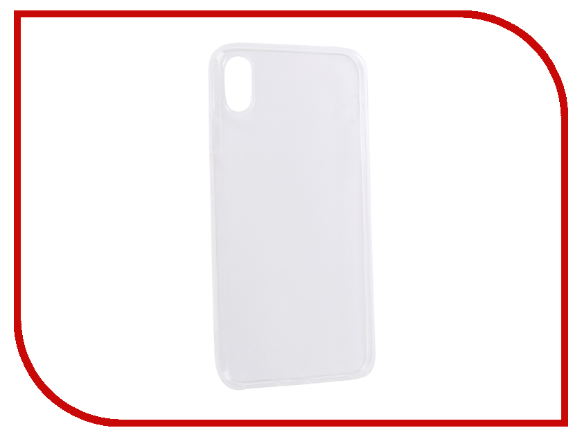 Аксессуар Чехол DF для Silicone Super Slim APPLE iPhone XS Max iCase-12 Transparent стоимость