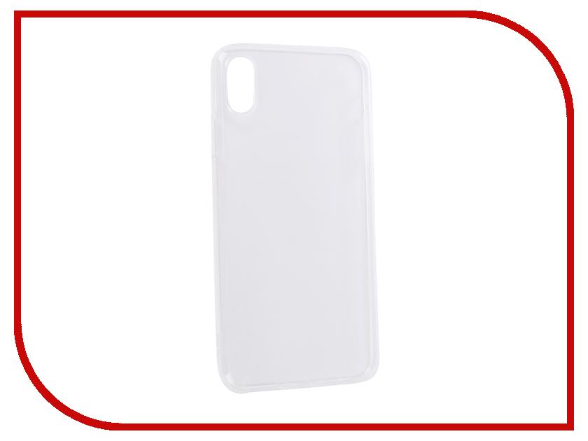 Аксессуар Чехол для APPLE iPhone XS Max DF Silicone Super Slim iCase-12 Transparent аксессуар чехол для apple iphone 7 plus 8 plus df silicone super slim icase 07