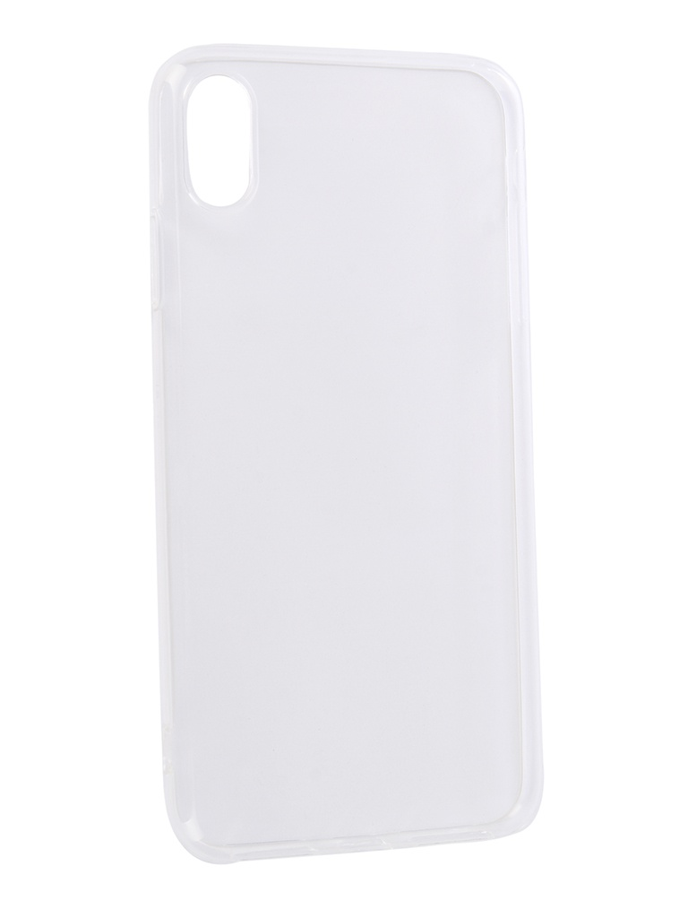 Аксессуар Чехол DF для APPLE iPhone XS Max Silicone Super Slim iCase-12 Transparent цена