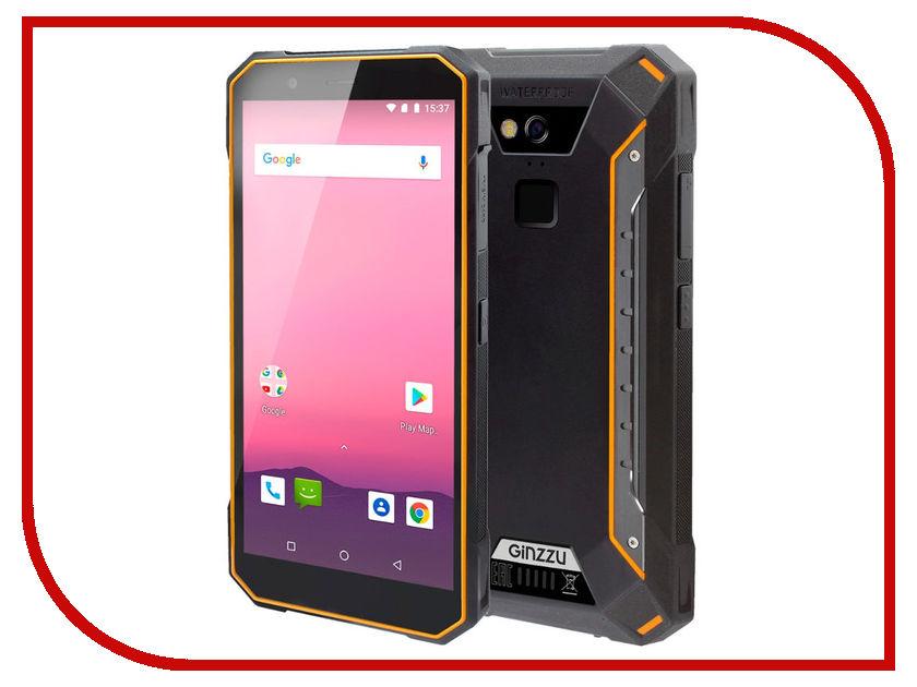 Сотовый телефон Ginzzu RS9602 Black-Orange сотовый телефон ginzzu r12d black
