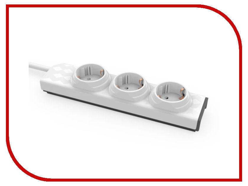 Удлинитель Allocacoc PowerStrip Modular 3 Sockets 1m 10001/PSMDDE modular rolling