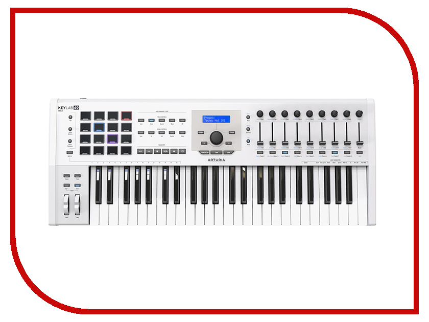 MIDI-клавиатура Arturia KeyLab mkII 49 White midi контроллер arturia beatstep white