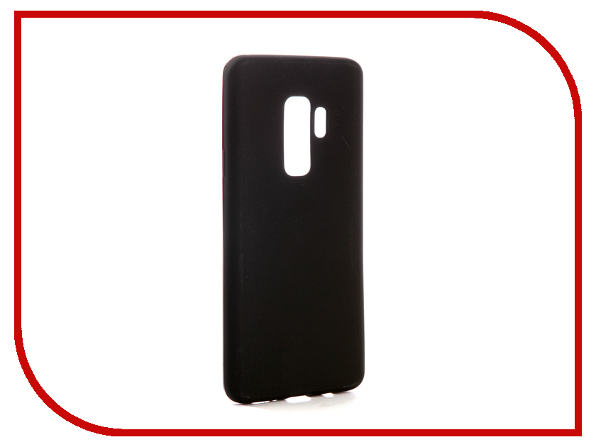 Аксессуар Чехол для Samsung Galaxy S9 Plus SD845 Svekla Silicone Black SV-SGGSD845P-MBL аксессуар защитное стекло для samsung galaxy s9 sd845 svekla 3d black frame zs svsgsd845 3dbl