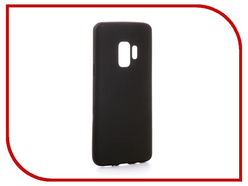 Аксессуар Чехол для Samsung Galaxy S9 SD845 Svekla Silicone Black SV-SGGSD845-MBL аксессуар защитное стекло для samsung galaxy s9 sd845 svekla 3d black frame zs svsgsd845 3dbl