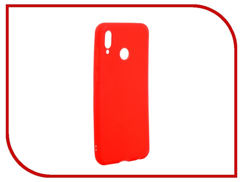 Аксессуар Чехол для Huawei Honor Play Zibelino Soft Matte Red ZSM-HUA-PL-RED аксессуар чехол nokia 7 plus zibelino soft matte red zsm nok 7 pls red