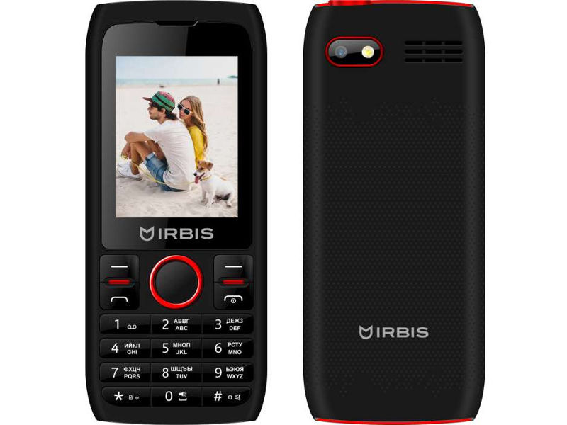 Сотовый телефон Irbis SF54 Black-Red сотовый телефон irbis sf20r red