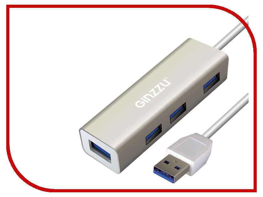 Фото - Хаб USB Ginzzu GR-517UB USB - USB 4 ports usb хаб source hin usb hub usb