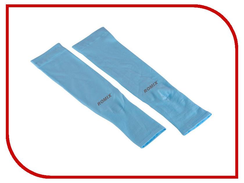 Рукава спортивные ROMIX Sleeves RH41 Light-Blue 30364 blue crossed front design deep v neck short sleeves blouses