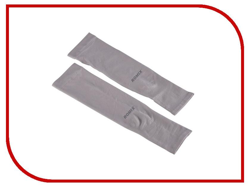 Рукава спортивные ROMIX Sleeves RH41 Grey 30364 grey chimney collar flared sleeves irregular hem sweater