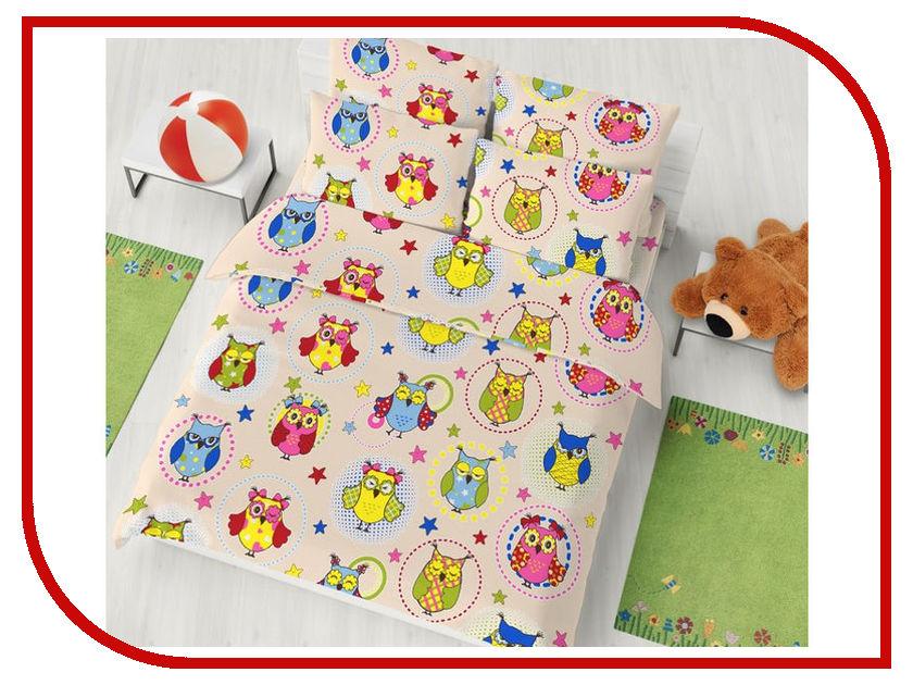 Постельное белье Хлопковый Рай Совята Комплект Детский Бязь